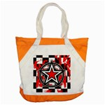 Star Checkerboard Splatter Accent Tote Bag