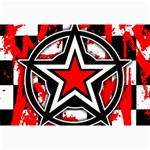 Star Checkerboard Splatter Canvas 20  x 30