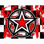Star Checkerboard Splatter Canvas 36  x 48