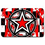Star Checkerboard Splatter Large Doormat