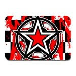 Star Checkerboard Splatter Plate Mat