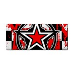 Star Checkerboard Splatter Hand Towel