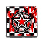 Star Checkerboard Splatter Memory Card Reader (Square 5 Slot)