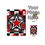 Star Checkerboard Splatter Playing Cards 54 Designs (Mini)