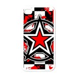 Star Checkerboard Splatter iPhone 4 Case (White)