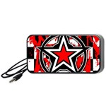 Star Checkerboard Splatter Portable Speaker (Black)