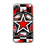 Star Checkerboard Splatter iPhone 4 Case (Clear)