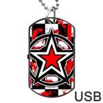 Star Checkerboard Splatter Dog Tag USB Flash (Two Sides)