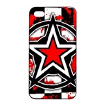 Star Checkerboard Splatter iPhone 4/4s Seamless Case (Black)
