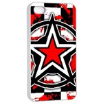 Star Checkerboard Splatter iPhone 4/4s Seamless Case (White)