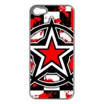Star Checkerboard Splatter iPhone 5 Case (Silver)