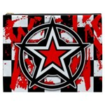 Star Checkerboard Splatter Cosmetic Bag (XXXL)