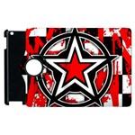 Star Checkerboard Splatter Apple iPad 2 Flip 360 Case