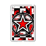 Star Checkerboard Splatter Apple iPad Mini 2 Case (White)