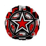 Star Checkerboard Splatter Standard 15  Premium Round Cushion