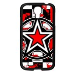 Star Checkerboard Splatter Samsung Galaxy S4 I9500/ I9505 Case (Black)