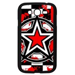 Star Checkerboard Splatter Samsung Galaxy Grand DUOS I9082 Case (Black)