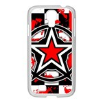 Star Checkerboard Splatter Samsung GALAXY S4 I9500/ I9505 Case (White)