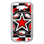 Star Checkerboard Splatter Samsung Galaxy Grand DUOS I9082 Case (White)