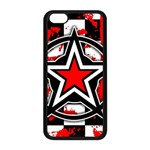 Star Checkerboard Splatter iPhone 5C Seamless Case (Black)