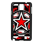 Star Checkerboard Splatter Samsung Galaxy Note 3 N9005 Case (Black)