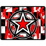 Star Checkerboard Splatter Double Sided Fleece Blanket (Large)
