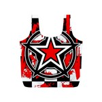 Star Checkerboard Splatter Full Print Recycle Bag (S)