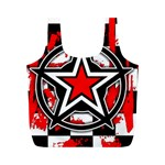 Star Checkerboard Splatter Full Print Recycle Bag (M)