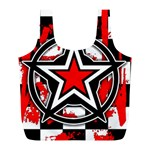 Star Checkerboard Splatter Full Print Recycle Bag (L)