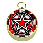 Star Checkerboard Splatter Gold Compass