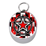 Star Checkerboard Splatter Silver Compass (Mini)