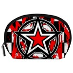 Star Checkerboard Splatter Accessory Pouch (Large)