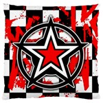Star Checkerboard Splatter Large Flano Cushion Case (One Side)
