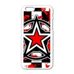 Star Checkerboard Splatter iPhone 6/6S White Enamel Case