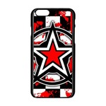Star Checkerboard Splatter iPhone 6/6S Black Enamel Case