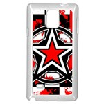 Star Checkerboard Splatter Samsung Galaxy Note 4 Case (White)