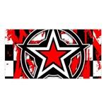 Star Checkerboard Splatter Satin Shawl