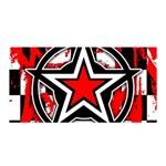Star Checkerboard Splatter Satin Wrap