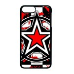 Star Checkerboard Splatter iPhone 7 Plus Seamless Case (Black)
