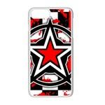 Star Checkerboard Splatter iPhone 7 Plus Seamless Case (White)