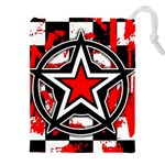 Star Checkerboard Splatter Drawstring Pouch (XXXL)