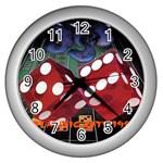 Atlantic City Wall Clock (Silver)