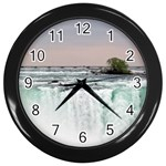 Niagra s Horseshoe Falls Wall Clock (Black)
