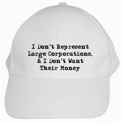 Don t Represent Large Corporations White Cap by WensdaiAmbrose