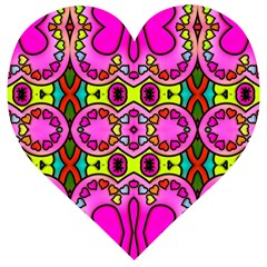 Abstract Background Pattern Wooden Puzzle Heart by Vaneshart
