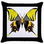 Butterfly M2 Throw Pillow Case (Black)