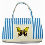 Butterfly M2 Striped Blue Tote Bag