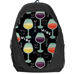 Red Wine Glass Backpack Bag by trulycreative