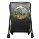Amish Buggy Going Home Pen Holder Desk Clock