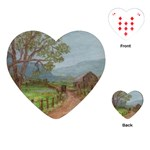 Amish Buggy Going Home Playing Cards Single Design (Heart)